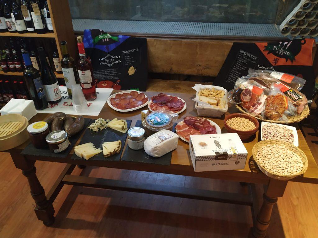 Degustación de productos típicos de León, España
