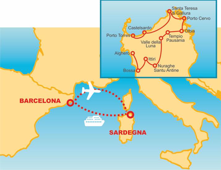 Barcellona Itinerari Guidato Sardegna Guidato Itinerari qvnwHZ