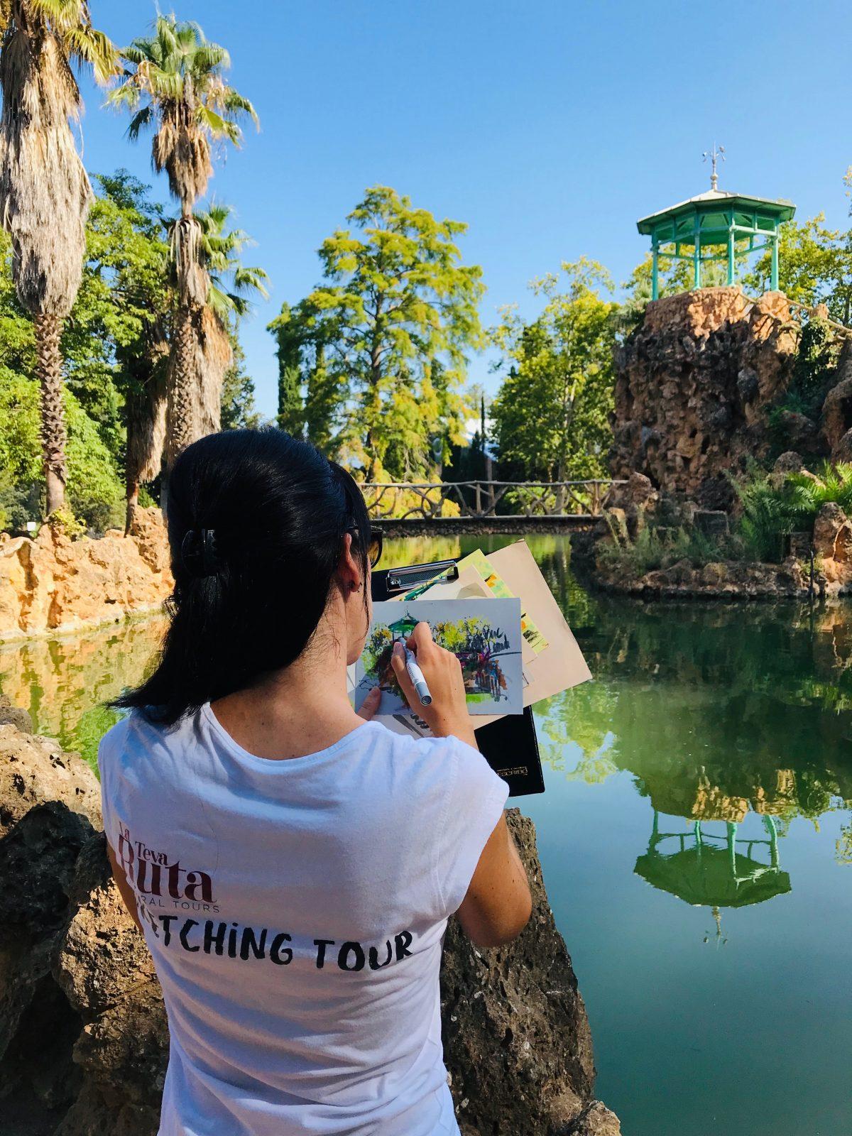 Sketching tour al Parc Samà a Cambrils